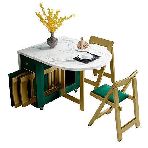 QYT-Mesa De Comedor Plegable De Madera Escritorio Plegable Extensible para Sala De Estar Cocina.