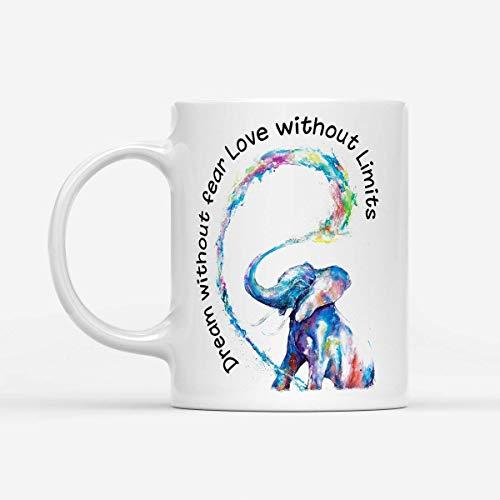 N\A Traum ohne Angst Liebe ohne Grenzen Elefant LGBT Kaffeetasse Tochter Sohn