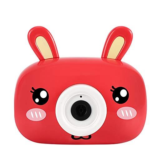 Seifenblasen Maschine, Badewannen/Garten Spielzeug Kinder Bubble Machine, Kaninchen Bär Kamera Auslauf Bad Bubble Spielzeuggeschenk mit Musik Lied für Kinder Geschenk (Rot)