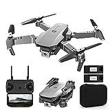 JJDSN Drone Quadcopter Plegable, Drone portátil con Control Remoto WiFi de 2.4Ghz con cámara Dual 4K, Quadcopter RC de transmisión en Tiempo Real para entusiastas de los Drones