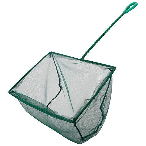 Uniclife 20 cm Aquarium Fischnetz Feinmaschige Fischfangnetze mit 26 cm Kunststoffgriff - Grün
