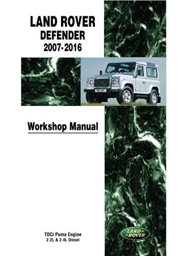 Land Rover Defender 2007-2016 Workshop Manual