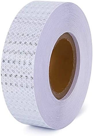Waterproof Reflective Tape Conspicuity Caution Tape 2 In x 150 Feet for Car Truck Tailer White product image