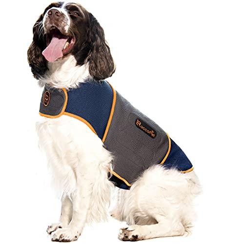 ROCCOPET Dog Anxiety Jacket, Anti Anxiety Dog Vest for Dogs, with Detachable Double-Sided Lining, All Seasons Available Dog Shirt for Dog Anxiety Relief/Dog Calming/Thunder/Travel
