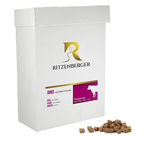 Ritzenberger Hundefutter Rind mit Dinkel & Karotte | 6,0 kg Karton | Ofengebackenes Trockenfutter