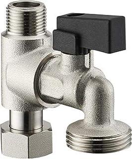 Robinets de lavabo robinet /équerre raccord 1//2//à 3//8/Valve Robinet chrom/é