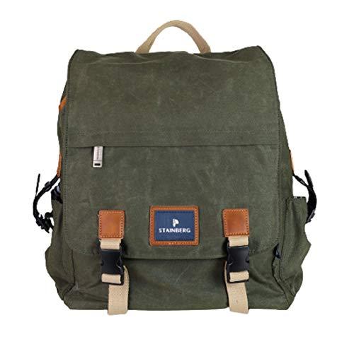 Rucksack mit Multifunktion aus gewachstem Canvas - Urban Backpack Messenger - Freizeitrucksack - Stainberg - 19l - Khaki