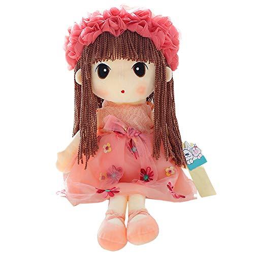 Everpert Muñecas de Peluche Muñecas Trapo Bebe de Encantador Dulce Niña, Regalos de los Niños de la Muñeca de Trapo de la Boda (Rosa, 50cm)