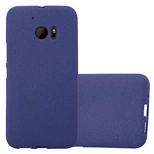 Cadorabo Hülle für HTC ONE M10 in Frost DUNKEL BLAU - Handyhülle aus flexiblem TPU Silikon - Silikonhülle Schutzhülle Ultra Slim Soft Back Cover Hülle Bumper