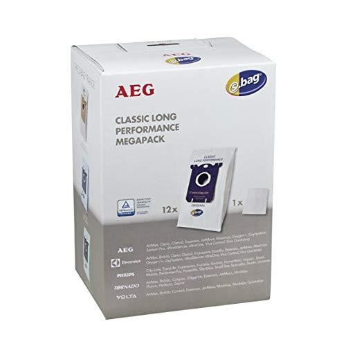 AEG Electrolux 90016697 900166976 ORIGINAL 12 Stück Filterbeutel Staubsaugerbeutel Staubbeutel Gr201M s-bag® für Bodenstaubsauger Staubsauger auch Philips Tornado Volta
