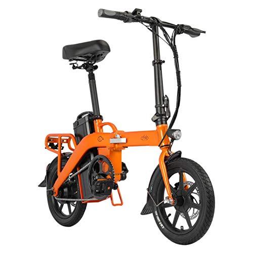 FIIDO L3 Bicicletta Elettrica Pieghevole per Adulti, Bici Elettriche da 14 Pollici da 350W con Batteria da 48V 23,2Ah, 3 Modalità di Guida a 7 Velocità, Ricevuta entro 5-7 Giorni (Arancione 23,2 Ah)
