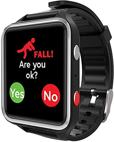 CPR Guardian III - Reloj de Alarma Personal SOS con Seguimiento de ubicación GPS, Negro