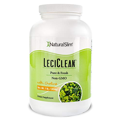 NaturalSlim LeciClean - Soy Lecithin Granules with Choline - 100% Pure Lecithin Powder Food Grade - Metabolism & Detoxification Support - Easily Dissolves in Protein Shake - Non GMO 454 Grams