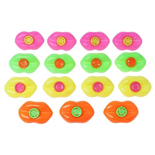 Kofun 15 Piezas de Labios Boca silbatos, Juego de decoración Premio Fiesta Juguetes Lucky Loot Kids Toy Color Aleatorio