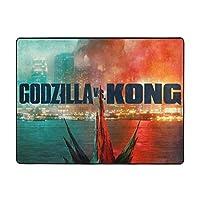Godzilla vs Kong ゴジラ vs コング ラグ カーペット ラグマット 滑り止め付 床暖房 チェアマット デスクマット マット 床 フローリング 防音 傷防止 マット 63x48in 120x160cm