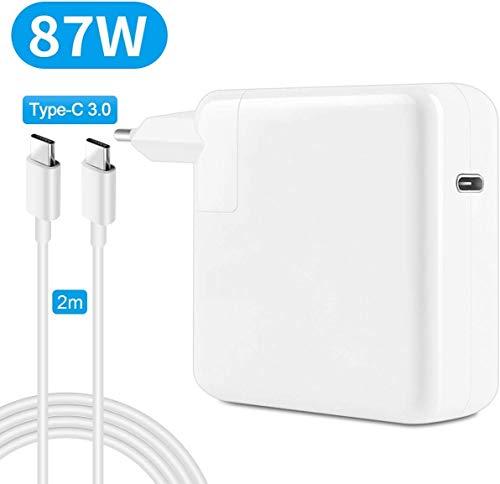 HUNDA Cargador de alimentación para MacBook 13, 15 pulgadas, 2016, 2017, 2018, 2019, (A1540, A1706, A1718 A1708), cargador para ordenador con cable de 2 m