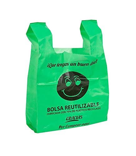 Bolsas de Plástico Tipo Camiseta Resistentes, Reutilizables