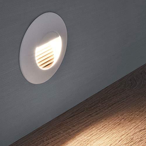 LED Treppenbeleuchtung Treppenleuchte Wand Einbauleuchte Einbaustrahler Treppenlicht Flurleuchte Nachtlicht 1101S (Variante 12)