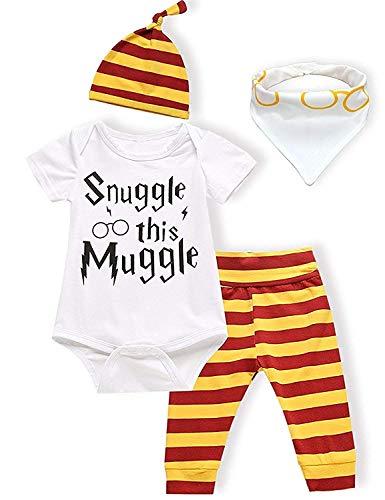 OKlady - Vestido para bebé o niña, para acurrucarse, para verano, de 3 a 4 piezas Kurze Ärmel Outfits 0-6 Meses