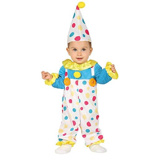 Colorido disfraz de payaso para bebé - Blanco 6 - 12 meses, 82 - 83 cm - Dulce vestimenta infantil disfraz de circo para niño y niña - El centro de las miradas para carnaval y fiesta de disfraces