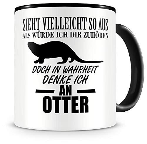Samunshi® Ich denke an Otter Tiere Tasse Kaffeetasse Teetasse Kaffeepott Kaffeebecher Becher