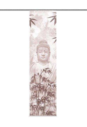 Home Fashion 87232-784 Schiebevorhang Digitaldruck Pattaya, Deko, 245 x 60 cm, Sepia