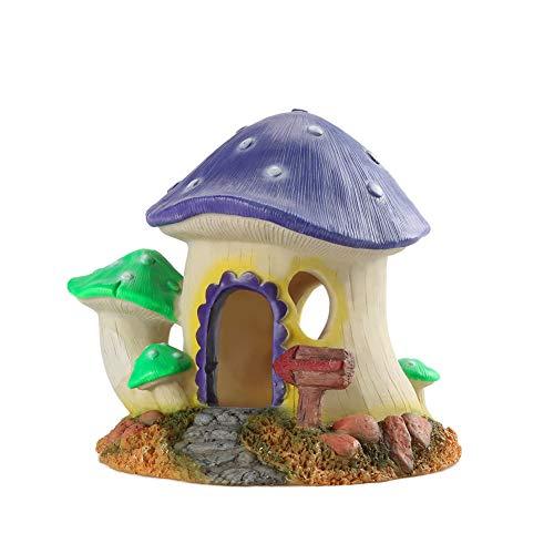 LBYLYH Ornament Kerstmis Ornamentsfish Tank Decoratie, Aquarium Landschap Decoratie benodigdheden Paddestoel Huis Hars ambachten Sieraden