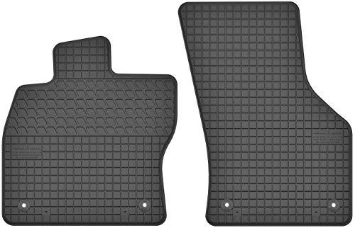 Gummimatten Vorne Gummi Fußmatten Satz für VW Volkswagen Golf VII (ab 2012) / Audi Q2 (ab 2016) / A3 8V (ab 2012) / Seat Leon III (ab 2012) / Ateca (ab 2017) / Skoda Karoq (ab 2017) 2-teilig Passgenau