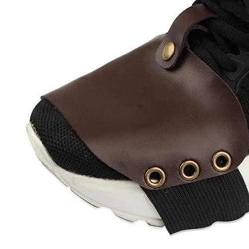 Shift Guard Funda para Zapatos Protector para Zapatos Anticaída Lujoso anticorrosión para Triciclo para Motocross(Brown)