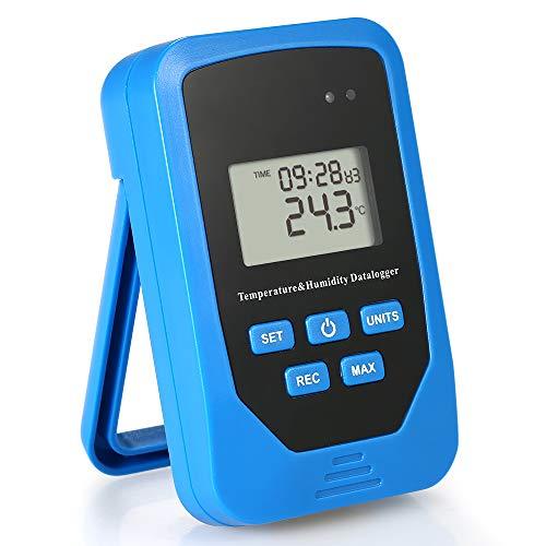 Katerk Mini USB Humedad Temperatura Data Logger Rh Temp Datalogger Recorder Medidor de Humedad Grabación de Humedad con Índice de Calor y Prueba de Punto de Rocío 80.000 Capacidad de Registro