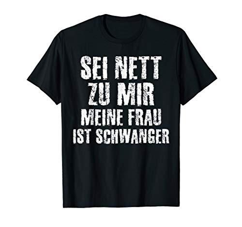Herren Werdender Vater Lustiger Schwangerschaft Spruch T-Shirt