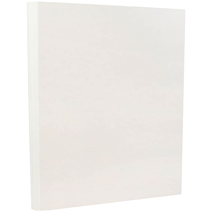 JAM PAPER Parchment 65lb Cardstock - 8.5 x 11 Coverstock - White Recycled - 50 Sheets/Pack