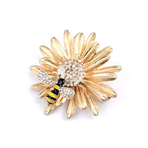 Koobysix bloem honing bijen broche email kristal sieraden voor hun vrouwen