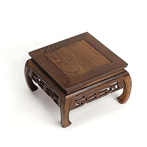 Pedestal con base de madera para jarrones Soporte de exhibición de madera maciza de palisandro, base de madera Bonsai Pedestal, base de madera Pedestal de forma cuadrada para la decoración del hogar d