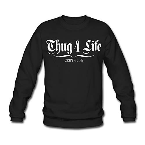 Spreadshirt Thug 4 Life Unisex Pullover, XXL, Schwarz