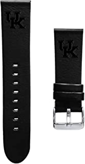 Affinity Bands of Kentucky Wildcats 24mm Premium Leather Watch Band - 2 Lengths - 3 Leather Colors - Officially Licensed