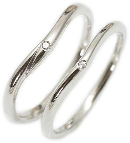 [ココカル]cococaru ペアリング 2本セット シルバー ダイヤモンド マリッジリング 結婚指輪 日本製(レディースサイズ13号 メンズサイズ11号)