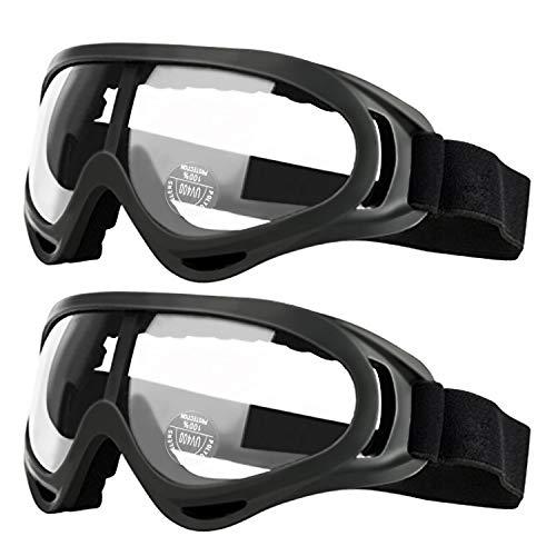 2er Pack Schutzbrille für Kinder Erwachsene Schutzbrillen Arbeit mit Windbeständigkeit und UV400-Schutz Perfekt für Labor, Radfahren, Skifahren, Bergsteigen