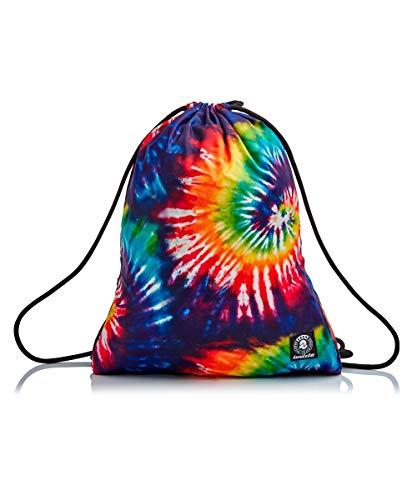 Invicta Sacca Zaino Easy Pack Tie & Dye Mochila, Multicolore, Taglia unica Unisex-Adultos