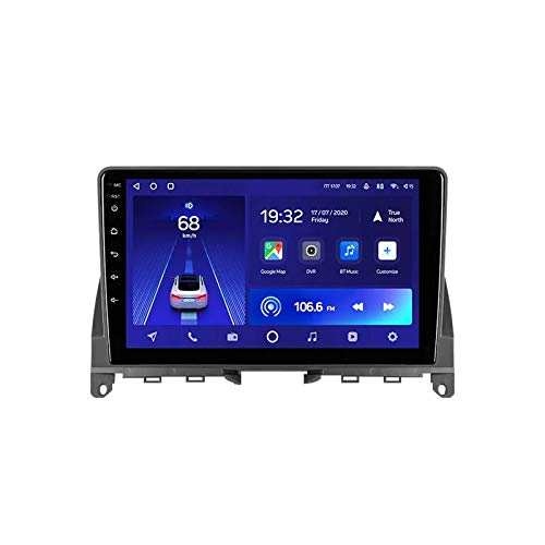 MGYQ 2 DIN Coche Bluetooth GPS Multimedia Car Stereo con Cámara De Visión Trasera, para Mercedes Benz C Clase 3/W204/S204 Soporte Control del Volante Receptor FM 1080P USB AUX In,Quad Core,WiFi 1+32