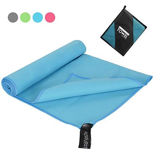 OhhGo Mikrofaser Handtuch schnelltrocknendes saugfähiges Handtuch großes Badetuch mit Tragetasche für Camping Gymnastik Strand Schwimm Yoga