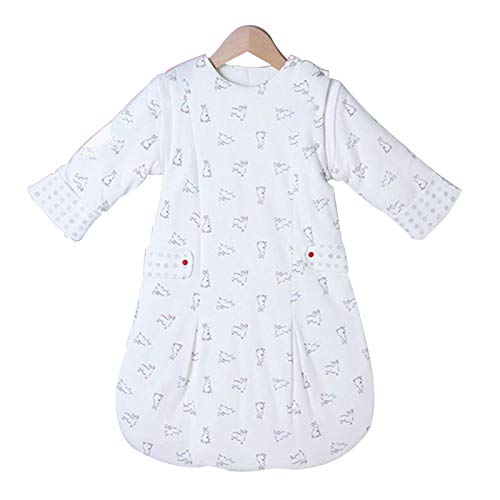 Sacos de dormir Infantil saco de dormir de una sola pieza saco de dormir de algodón, bebé Tipo de dobladillo de la falda, edredón patada a prueba, adecuada for el algodón manta de bebé en primavera, o