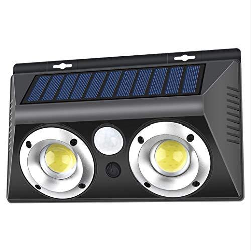 SIMGULAM Luz Solar de la Pared, Sensor de Movimiento Exterior Home Depot luz Solar de la Pared Exterior Impermeable IP65 al anochecer para el Patio del jardín, Negro