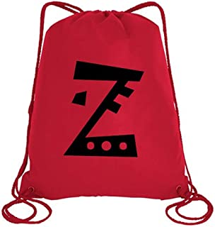 IMPRESS Drawstring Sports Backpack Red with Joker Letter Z