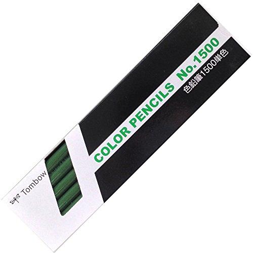 トンボ鉛筆 色鉛筆 1500単色 ときわ色 1ダース 1500-08