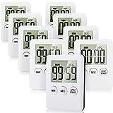 9 Piezas Temporizador Cocina Digital con una Función Recordatorio Alarma Contar Adelante y Cuenta Regresiva Magnético con Gran Pantalla LCD, Operación Simple Adecuado para Niños y Ancianos