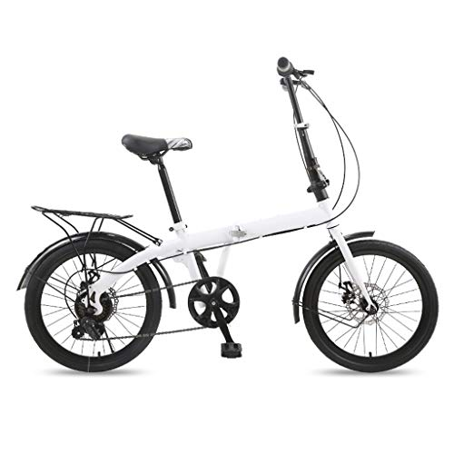 ZHEDYI 20in Women's Bike Compact Cruiser Women's Light City Bike, Womens Mountain Bike,Aluminum Alloy Handlebars and Ergonomic Seats Provide The Best Gift for Mom and Girlfriend (Color : White)