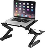 FWQPRA T8 Table for Laptop Stand for Bed and Sofa, Desk Portable Adjustable Laptop Table Stand Up/Sitting with Mouse Pad, Ergonomics Design Aluminum Suitable for Reading Studying