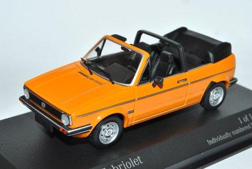 Minichamps Volkwagen Golf I Orange Cabrio 1974-1983 1/43 Modell Auto mit individiuellem Wunschkennzeichen