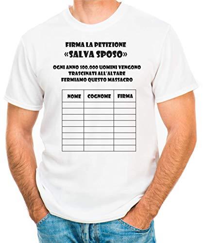 Hero Tee T-shirt voor vrijgezellenfeest bedrijf La petition – Salva Sposo – heren t-shirt